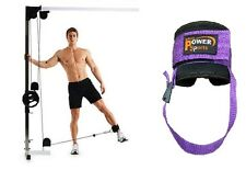 NEW GYM PURPLE OYSTON Gym Foot/Flex Ankle Strap Cable Machine Attach - SINGLE