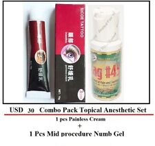 Skin Numb Topical Anaesthetic Cream & Tag#45 Gel for Tattoo / PMU