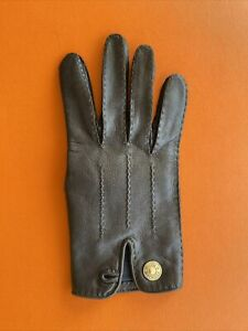 Hermes  Vintage Leather Glove Right Hand Only Women Size 6