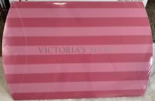 New Victoria's Secret Gift Box Pink Stripes Fold In Ends Silver Logo 13�x12� Vs