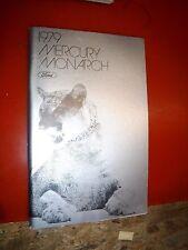 1979 Mercury Monarch Original Factory Operators Owners Manual Guide
