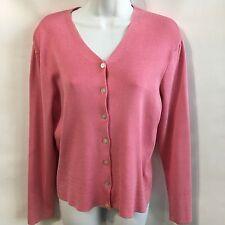Talbots Petites Long Sleeve V Neck Cardigan Sweater Pink Size S
