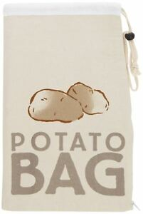 Kitchen Craft Stay Fresh Print Canvas Potato Vegetable Storage Bag