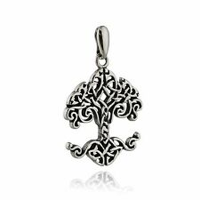 Celtic Tree of Life Pendant - 925 Sterling Silver - Knot Roots Irish Family NEW