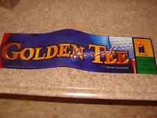 Golden Tee Fore 2001 Video Arcade Game Marquee, Atlanta (#213)