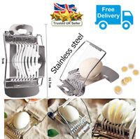 Stainless Steel Boiled Egg Slicer/Mushroom Cutter HIGH Grade Kitchen Utensil UK