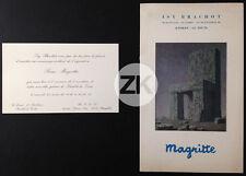 RENE MAGRITTE Surréalisme ISY BRACHOT Exposition CARTON + CATALOGUE 1971