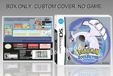 NINTENDO DS : POKEMON SOULSILVER VERSION. ENGLISH. COVER + BOX. (NO GAME)