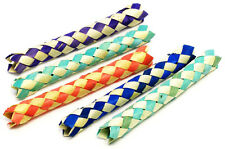 12 CHINESE FINGER TRAPS BAMBOO Party Favor Bird Parrot Toy bird cage craft