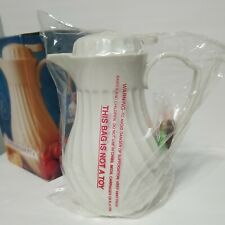 Connoisserve 40 Ozoff White Swirl Thermal Insulated Coffee Tea Server