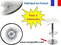 Protection plastique pour 2 tabourets : socle pied de tabouret chaise de bar