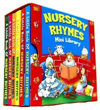 NURSERY RHYMES MINI LIBRARY SET 6 BOARD BOOKS CLASSIC FAVOURITES LEARN 1932NRML