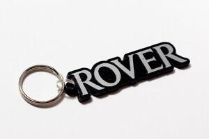 Rover Keyring - Brushed Chrome Effect Classic Car Keytag / Keyfob