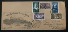 1952 South Africa First Day cover FDC Van Riebeeck Tercentenary To Springs