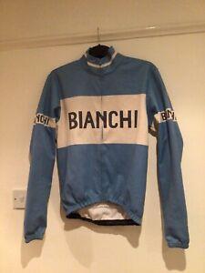 Bianchi Winter Cycling Jacket Jersey Medium M Retro Vintage Style - To Repair