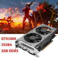 GTX1060 3GB DDR5 192Bit Game Graphics Card PCI-E VGA DVI HDMI For NVIDIA GeForce