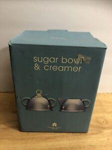 MICHAEL GRAVES Alessi Stainless Steel Creamer Sugar Bowl Set Target Vintage