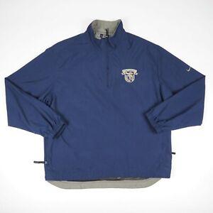 Nike Golf Fed Ex Orange Bowl Blue Mesh Lined Quarter Zip Pullover Jacket Large