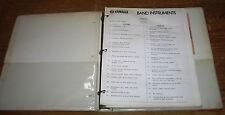 Yamaha Band Instruments Catalog and Manual. Vintage. 1960s or 1970s.