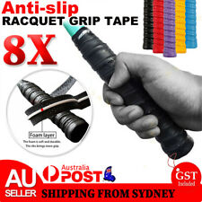 8x Anti-slip Badminton Tennis Racket Over Grip Tape Squash Racquet Rod Sweatband