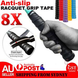 8x Anti-slip Badminton Tennis Racket Over Grip Tape Squash Racquet Rod Sweatband