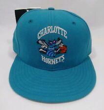 Charlotte Hornets NBA Baloncesto Vintage Verde Azulado New Era 5950 Gorra  Sombrero de Lana Equipada 5cf833e927d