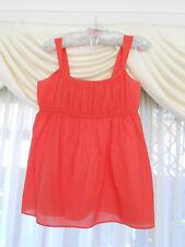 Ladies Banana Republic orange swing top Straps Size M 10 - 12 cotton Empire Line