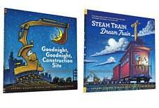 Goodnight Goodnight Construction Site & Steam Train Dream Train (Hardcover Set)