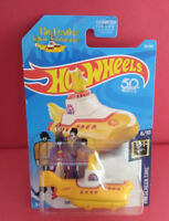 HOT WHEELS THE BEATLES SUBMARINE 50TH - LIMITED LONG CARD - 2017 - REF 3966