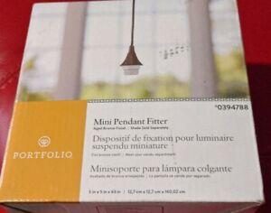 Portfolio 1 Light Mini Pendant Fitter Aged Bronze 0394788