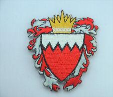 Bahrain Landesflagge Wappen bestickt nähen zum Aufbügeln Tuch Aufnäher