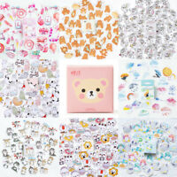 45pc Lovable Cartoon Sticker DIY Adhesive Paper Journal Stamp Scrapbook + Box