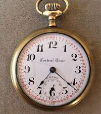Base Metal Pocket Watch Swiss 21 Jewel 16 Size