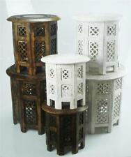 Wooden Asian/Oriental Round Side & End Tables