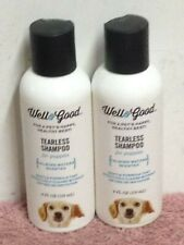 Two 4 Oz Bottles Well & Good TEARLESS SHAMPOO FOR PUPPIES Calming Waters Scented