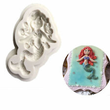 3D mermaid Silicone Fondant Baking Cake Cartoon Mould Sugarcraft Decorating mold