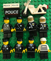 Lego Vintage Police Men Cops Prisoner Motorcycle Minifigures Lot