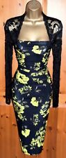 Exquisite PHASE EIGHT Black Citrean Enid Lace Floral Cocktail Dress UK 12 Cruise