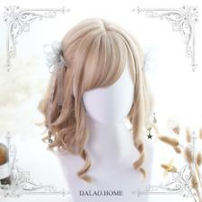 Harajuku Sweet Dolly Elra Roman Curly Hair Cosplay Wig Lolita Mixed Side Parting
