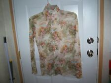 Vintage Men's Button Up Shirt by Andhurst Floral With Women Size Small to Medium