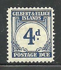 Album Treasures Gilbert & Ellice Islands Scott # J4  4p Postage Due MH
