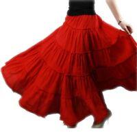 Gypsy Bohemia BOHO Cotton Dance Long Skirt Pleated Casual Maxi Skirts New N-94