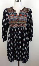 Umgee Womens M Shift Dress Ikat Bohemian Boho Flowy