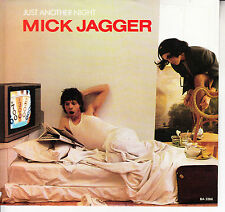 """MICK JAGGER  Just Another Night PICTURE SLEEVE 7"""" 45 rpm record ROLLING STONES"""