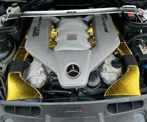 Mercedes Star & AMG Engine Cover Badges Not A Sticker! Custom Made