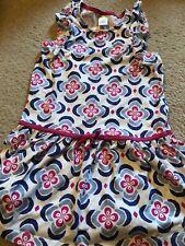 Gymboree Girls Size 6 Blue And Pink Drop Waist Dress