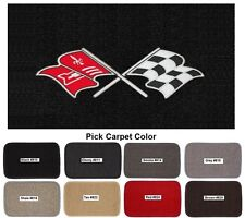 Lloyd Mats Corvette Chevrolet Cross Flags Classic Loop Floor Mats (1968-82)