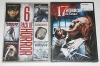 Horror DVD Lot - 6 Pack of Horror (New) 17 Horror Classics (New)