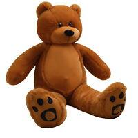 WOWMAX® 3 Foot Teddy Bear Giant Soft Stuffed Dolls Dark Brown