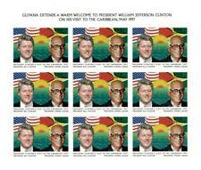 Guyana - 1997 - Clinton Visit - Sheet Of 9 - MNH